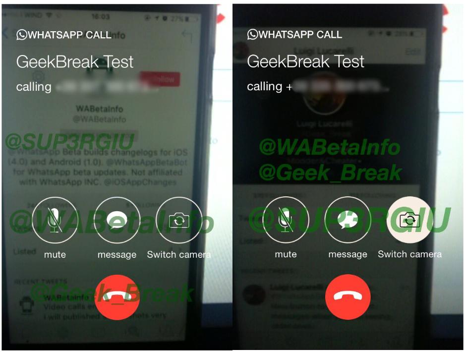 WhatsApp Messenger apeluri video