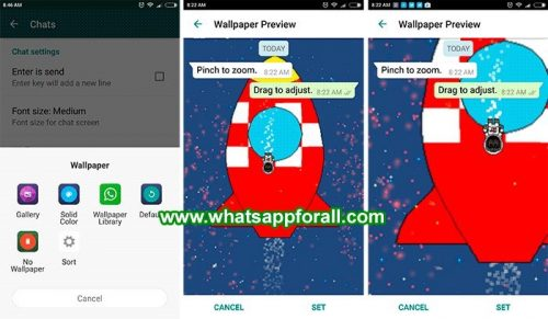 WhatsApp Messenger preview fundal