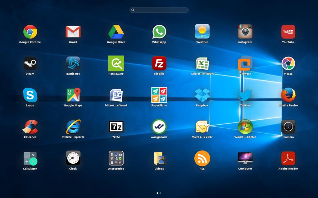 Windows 10 iOS launcher