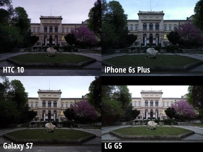 camera HTC 10 vs iPhone 6s Plus, Galaxy S7 vs LG G5