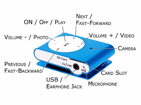 camera ipod shuffle de supraveghere