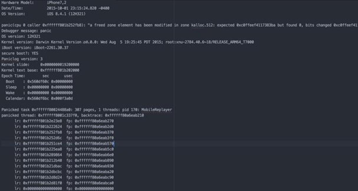 iOS 9.3.2 beta 1 kernel jailbreak