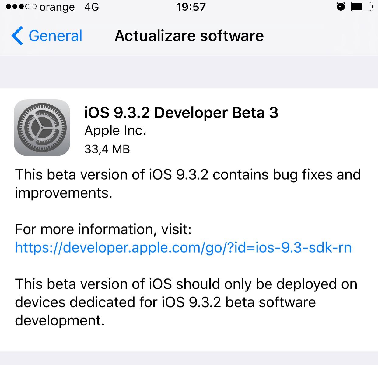 Avatar 2 Beta 3 Beta: IOS 9.3.2 Beta 3 A Fost Lansat