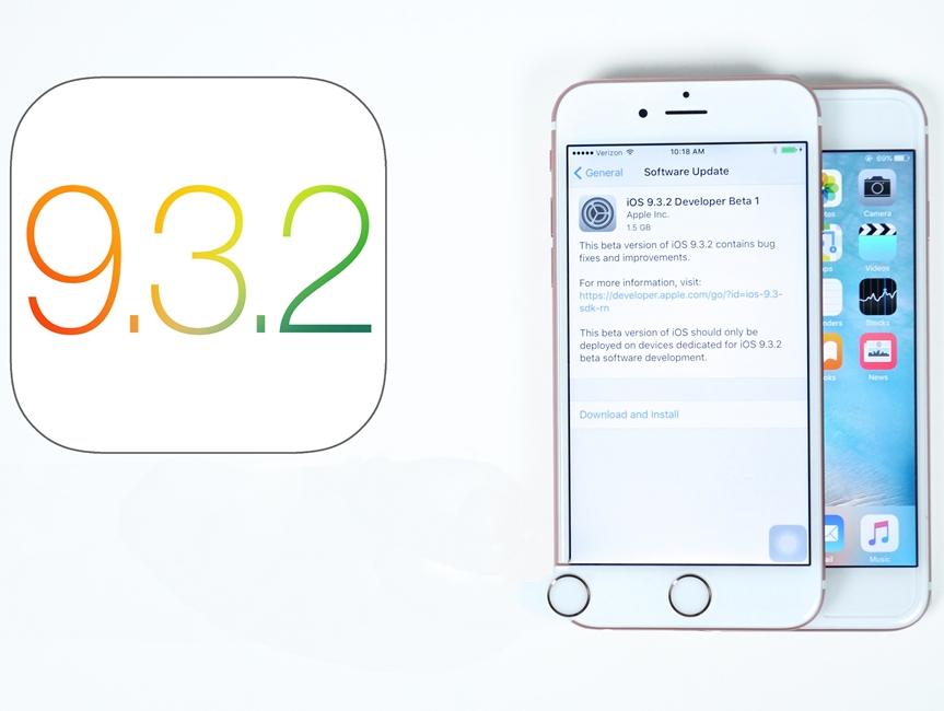 iOS 9.3.2 public beta 1