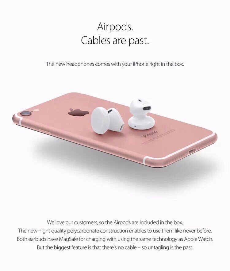 iPhone 7 Earpods wireless