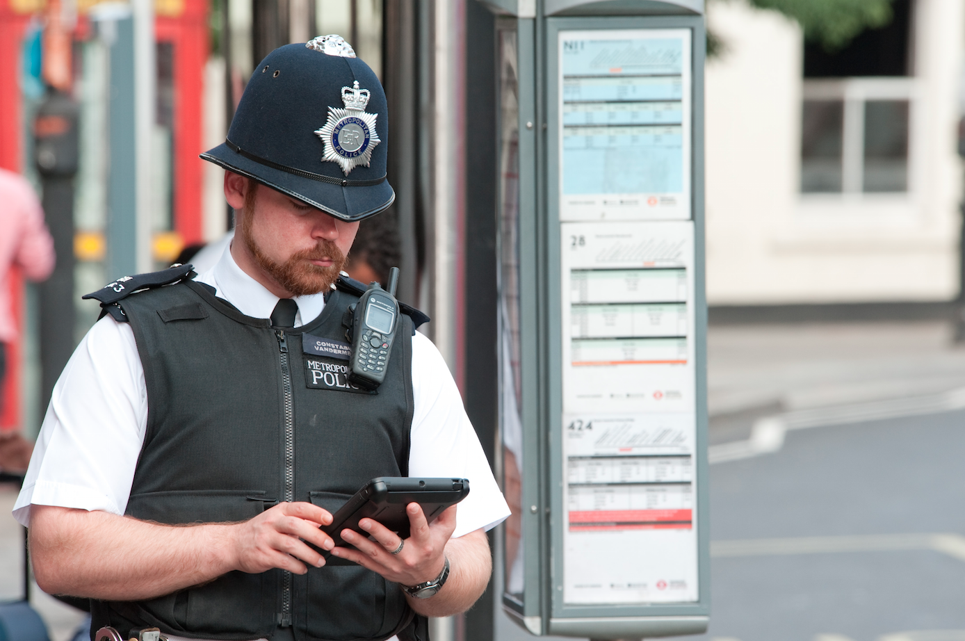 politie Londra iPad