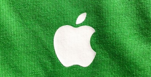 tricou verde Apple Store