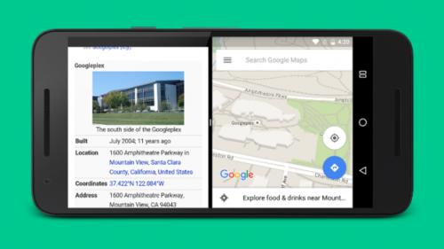 Android N split-screen multitasking