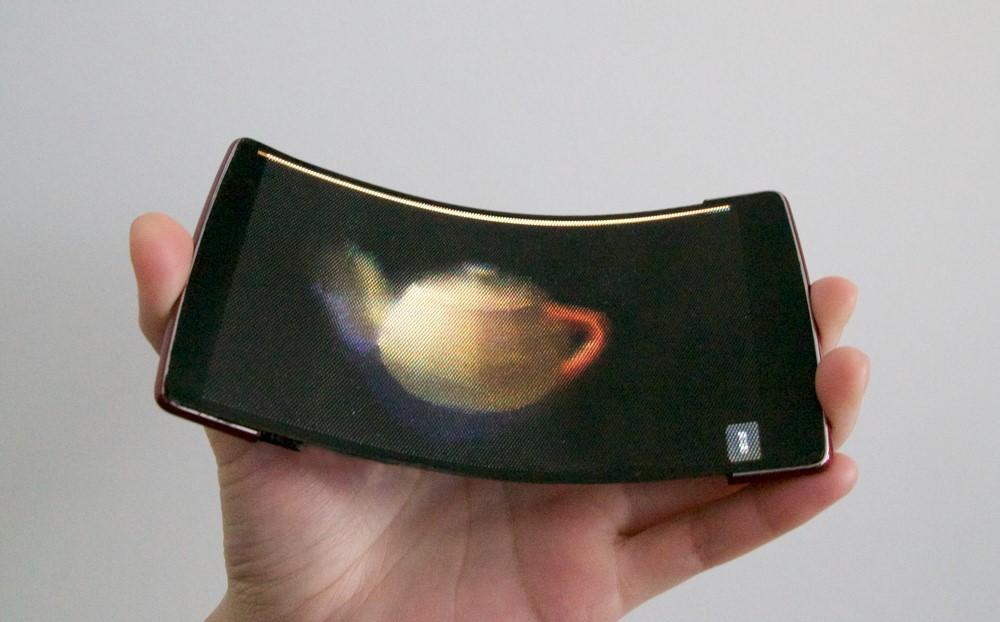 HoloFlex smartphone 3d flexibil holograma