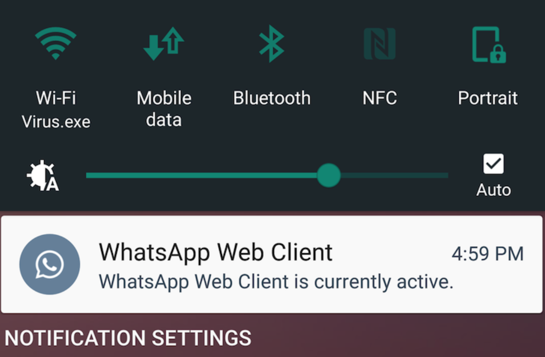 WhatsApp Messenger notificare conversatii