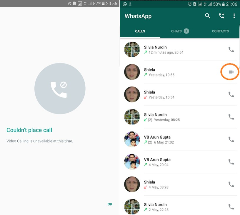 WhatsApp Messenger video apeluri