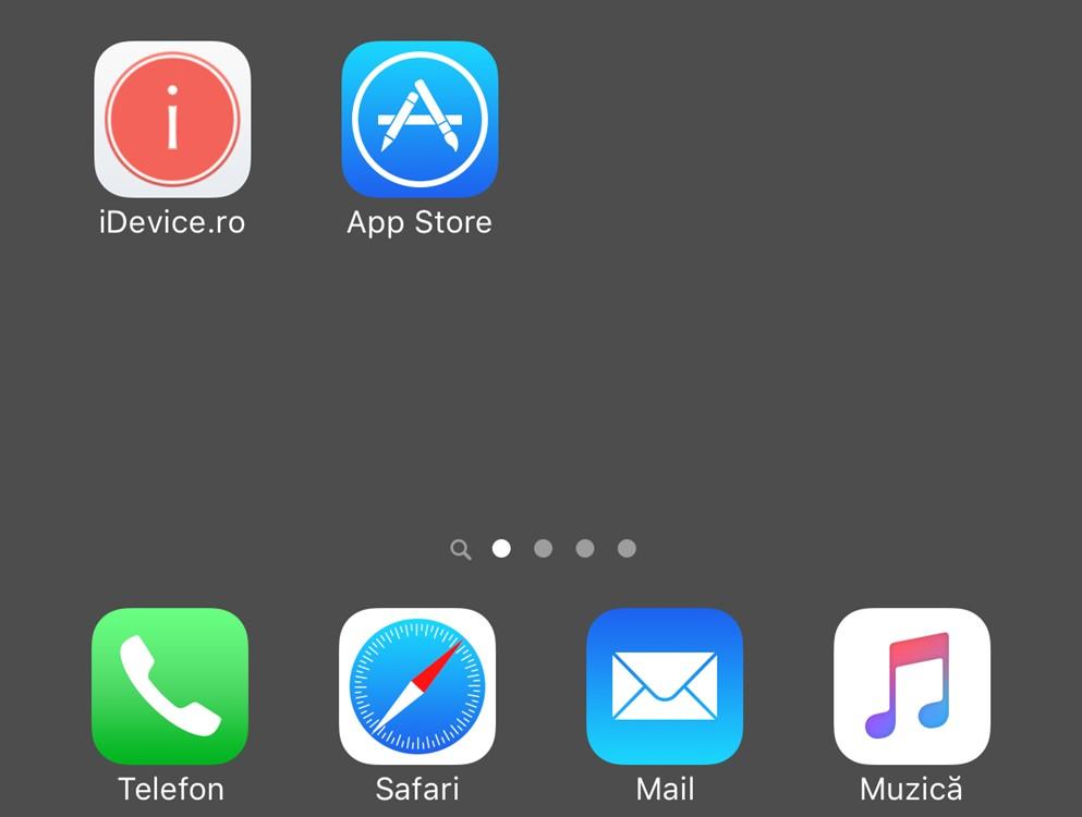 ascunde dock iOS