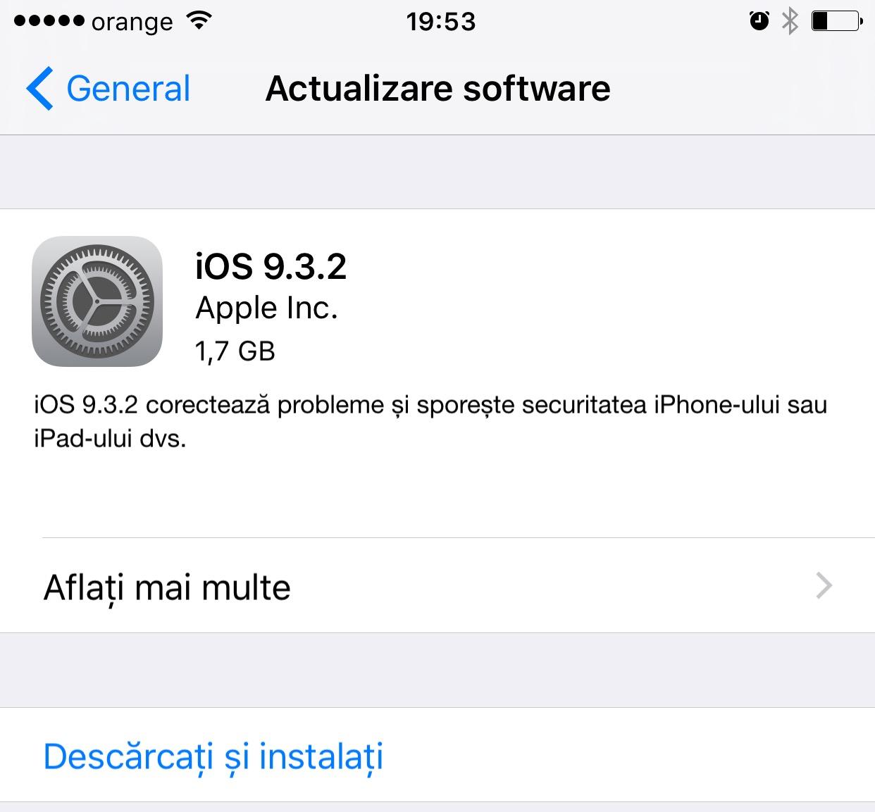 iOS 9-3-2 confirmare