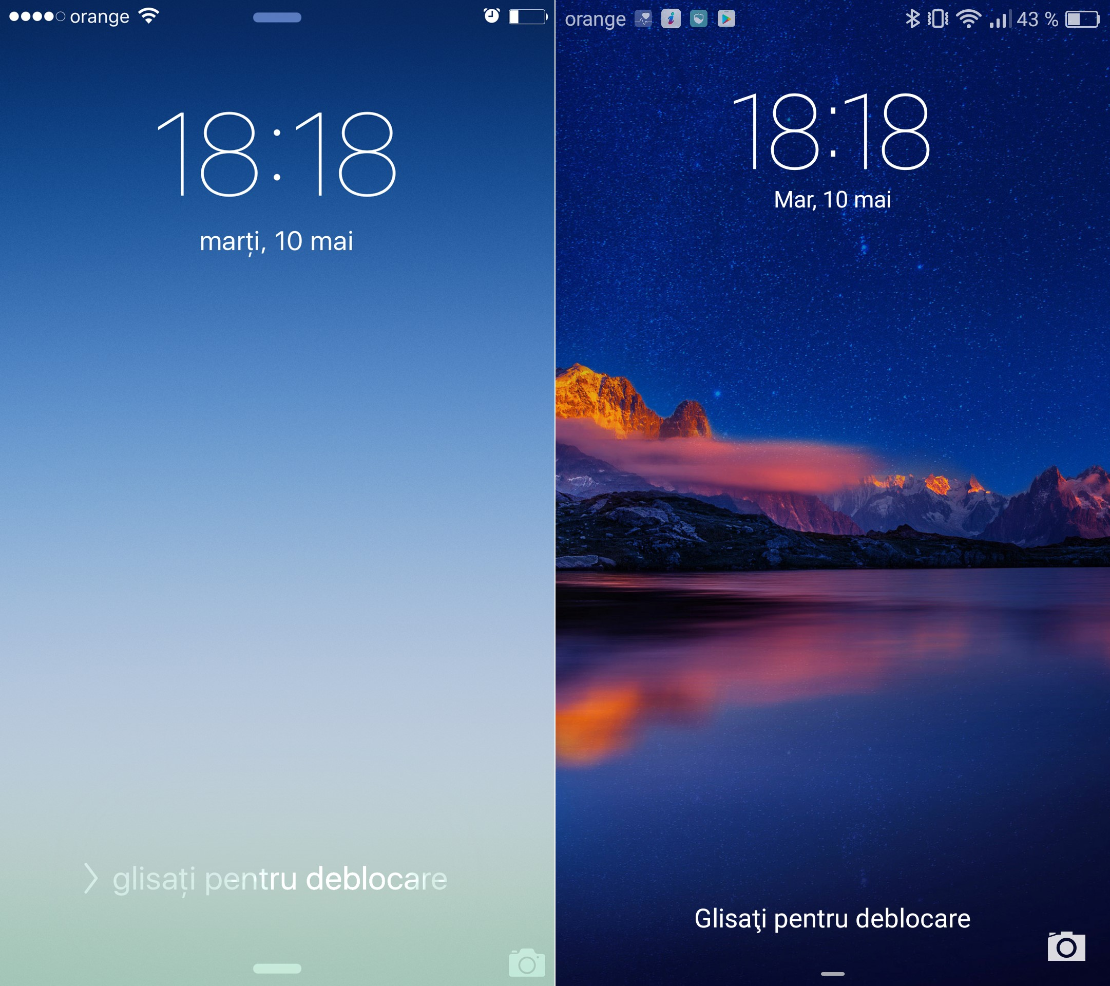iPhone 6S vs Huawei P9 clona