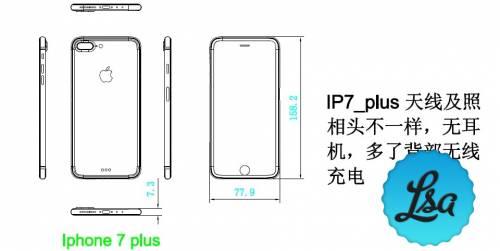 schita iPhone 7 Plus mai