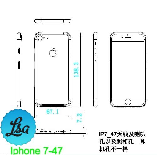 schita iPhone 7 mai