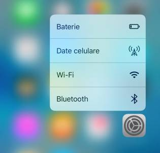 3D Touch date celulare iOS 10