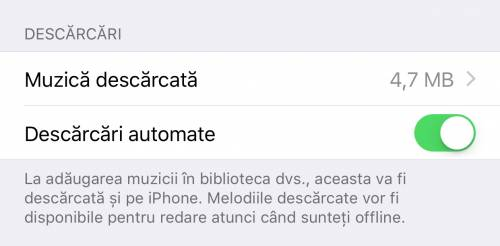 Apple Music iOS 10 descarcari