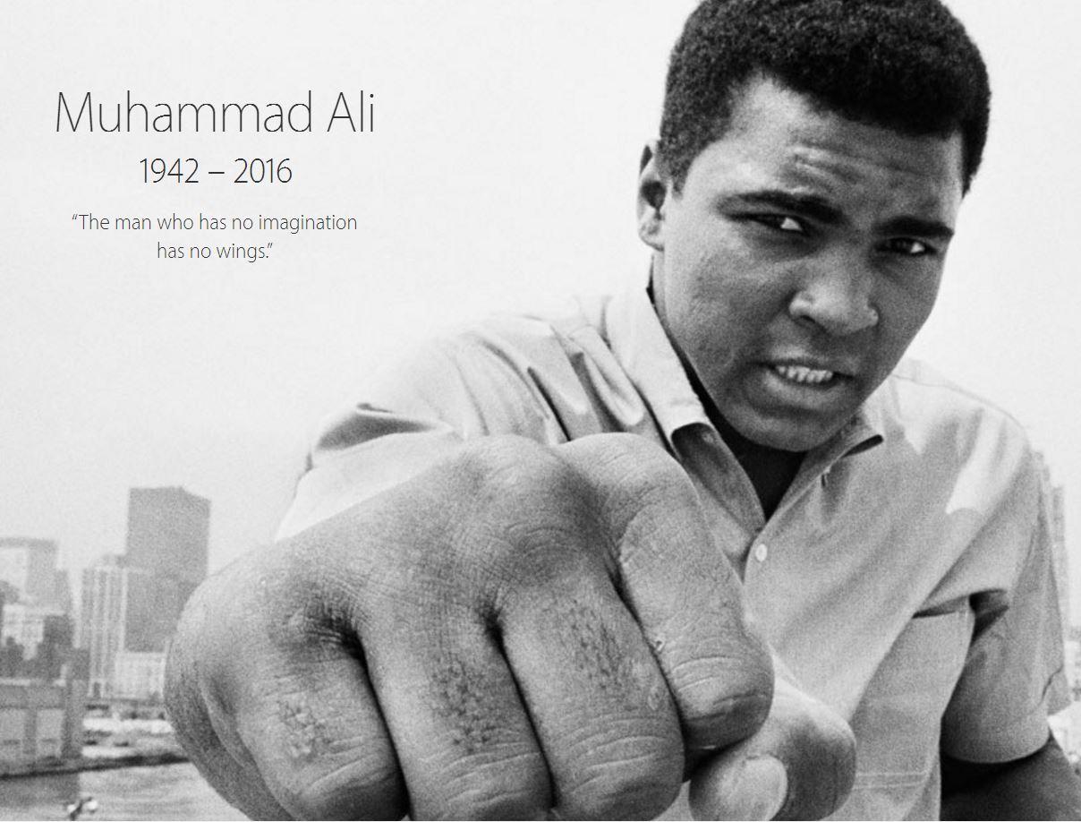 Apple comemorare Muhammad Ali