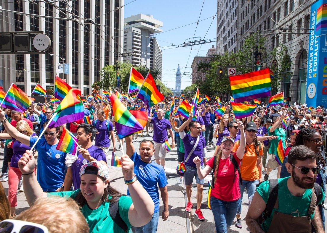 Apple gay parade