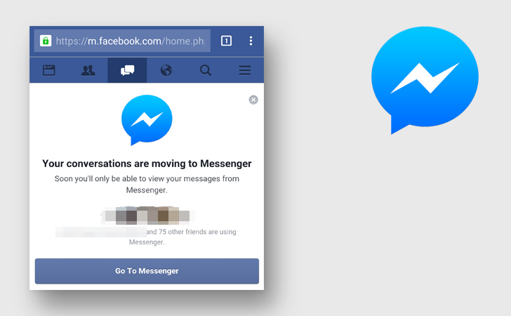 Facebook fortat messenger