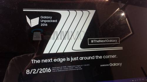 Samsung Galaxy Note 7 invitatie