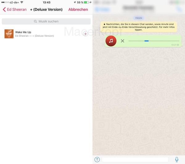WhatsApp Messenger ascultare muzica