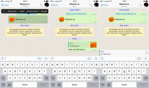 WhatsApp Messenger citare mesaje