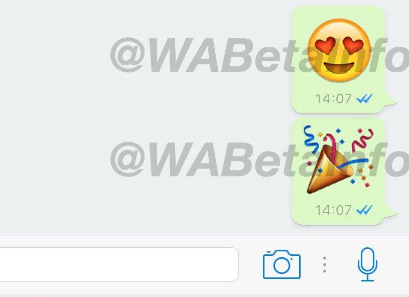 WhatsApp Messenger emoji mari