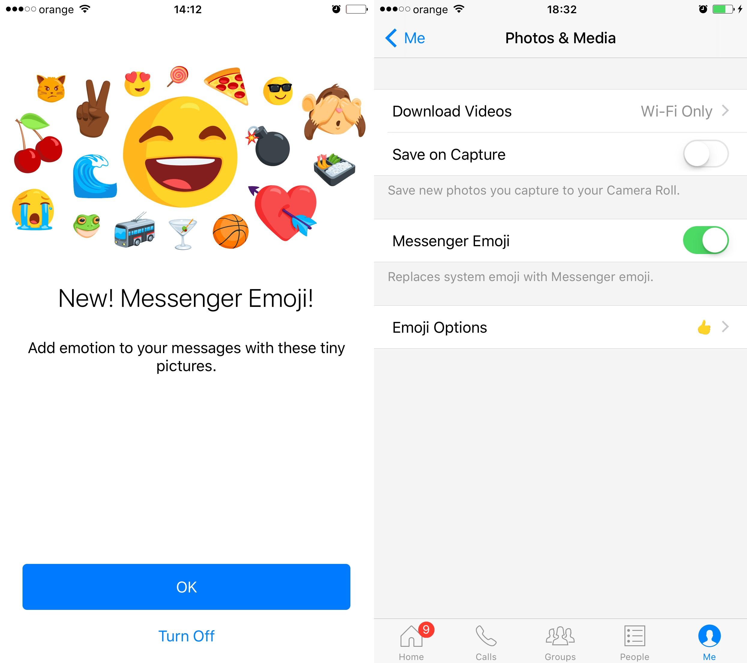 acces dezactivare emoji Facebook