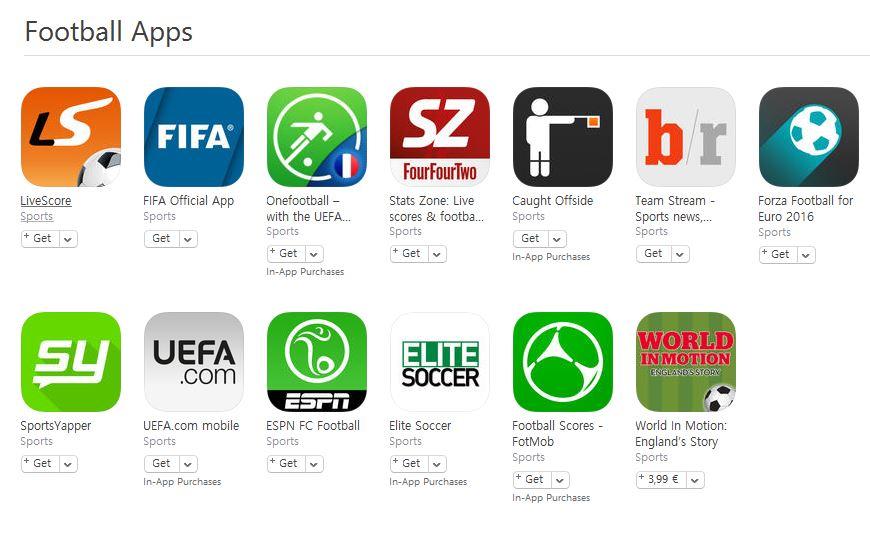 aplicatii fotbal