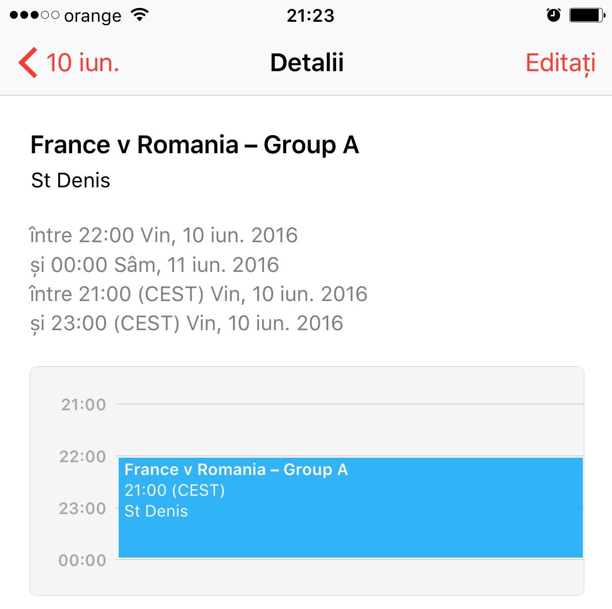 calendar Euro 2016