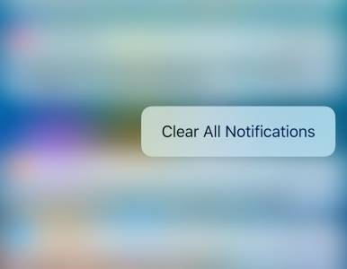 iOS 10 3D Touch stergere notificari