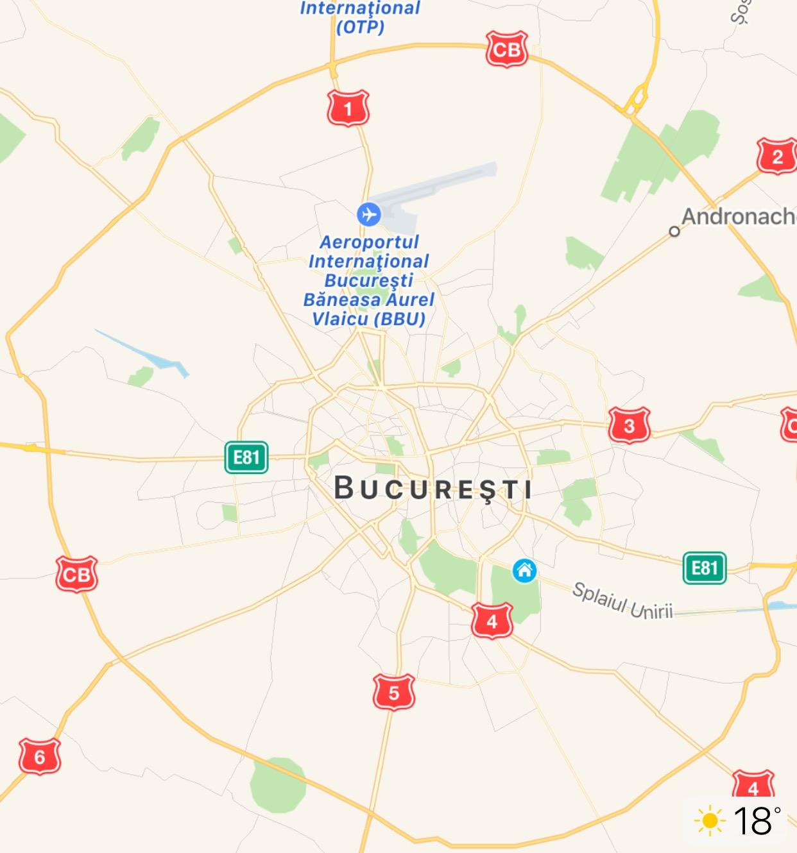 iOS 10 Apple Maps temperatura locatie