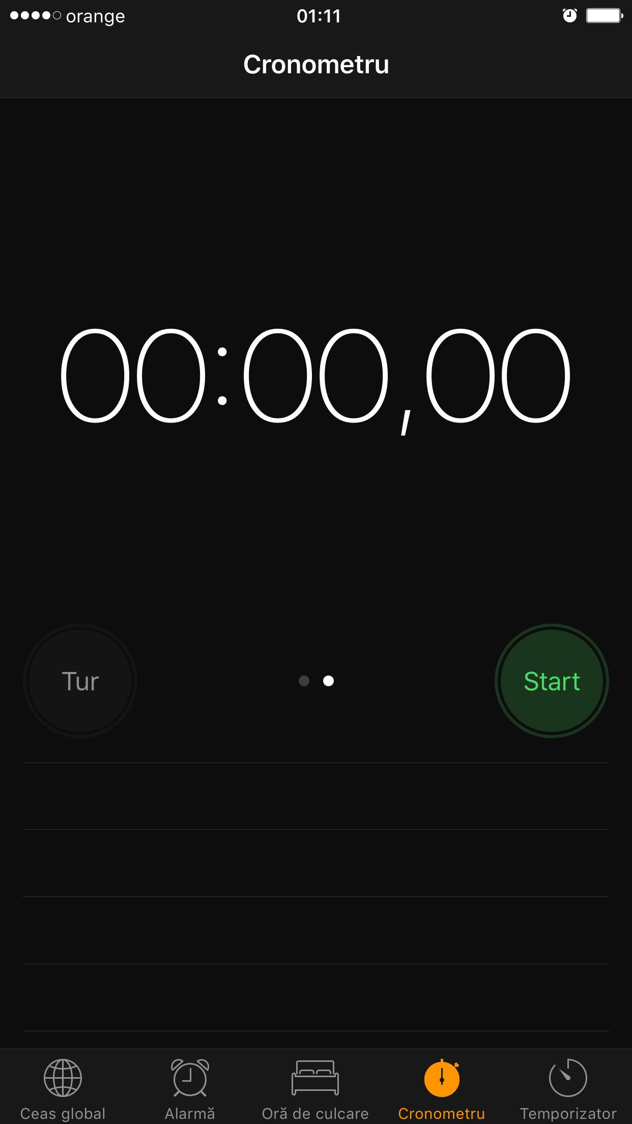 iOS 10 interfata dark aplicatie Clock