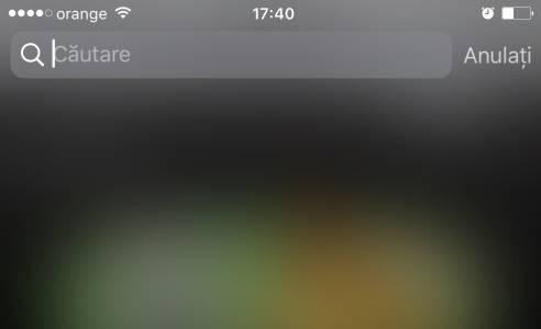 iOS 10 acces rapid spotlight