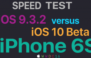 iOS 10 beta 1 vs iOS 9.3.2 performante