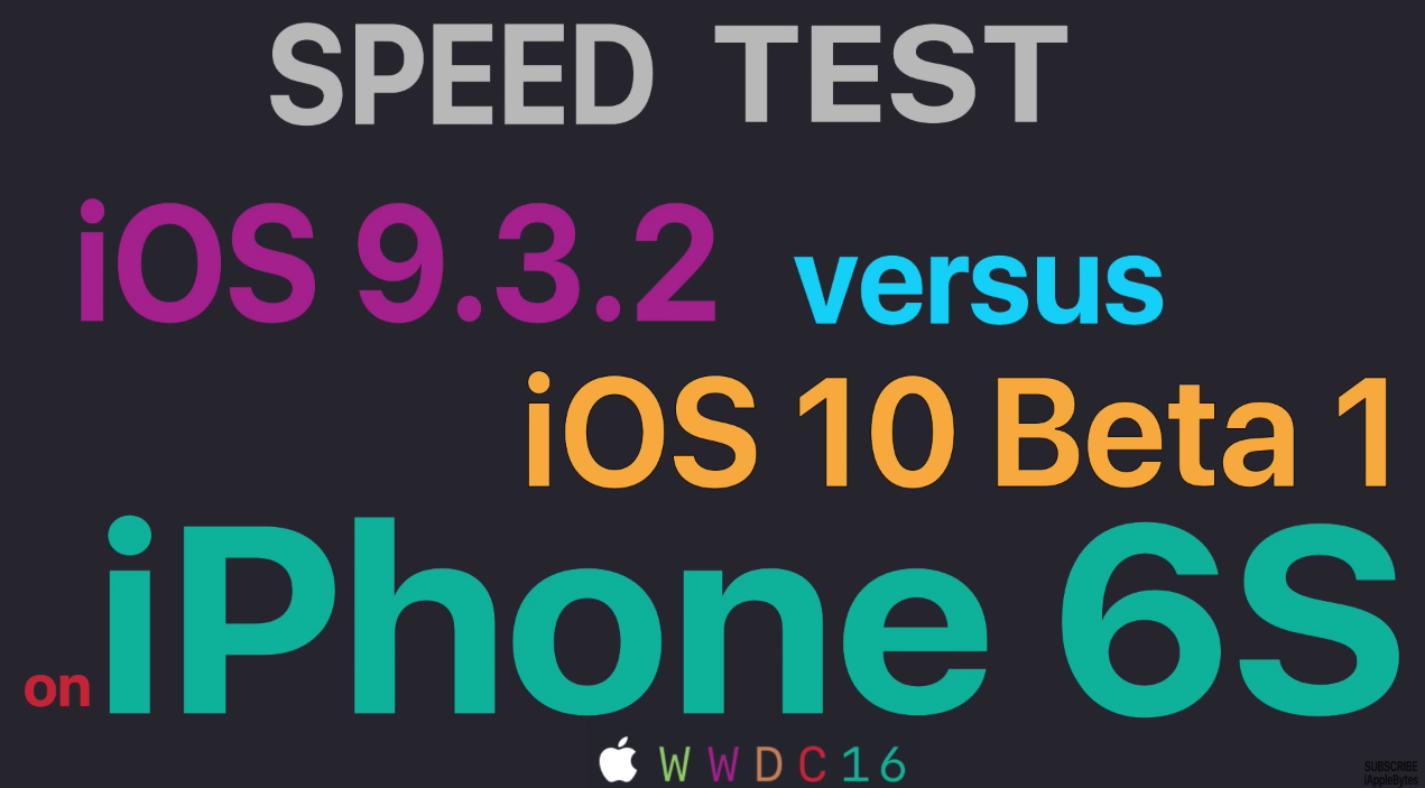 iOS 10 beta 1 vs iOS 9.3.2 performante