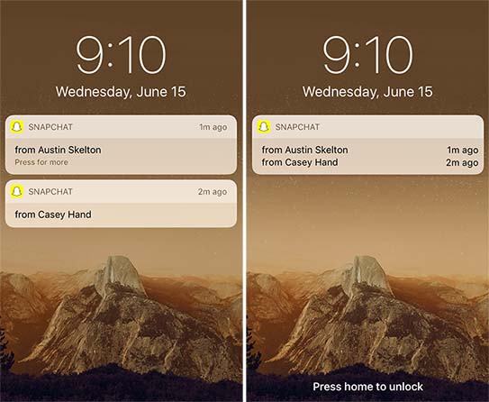iOS 10 concept notificari
