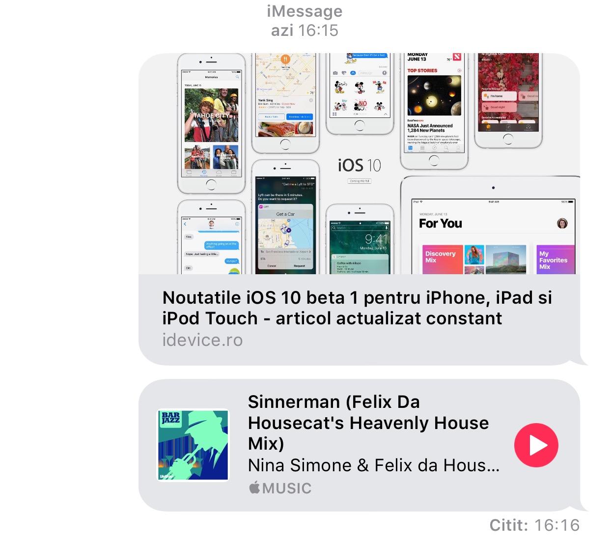 iOS 10 - interfata Apple Music