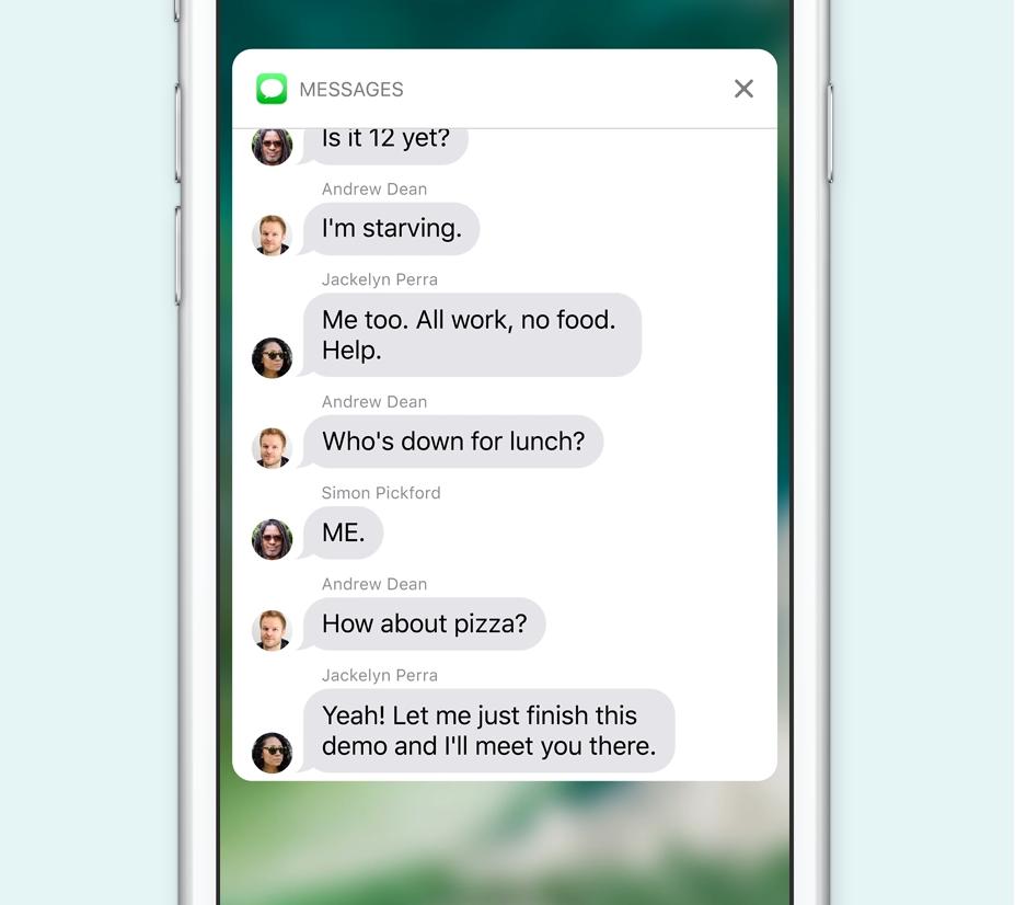 iOS 10 notificari interactive