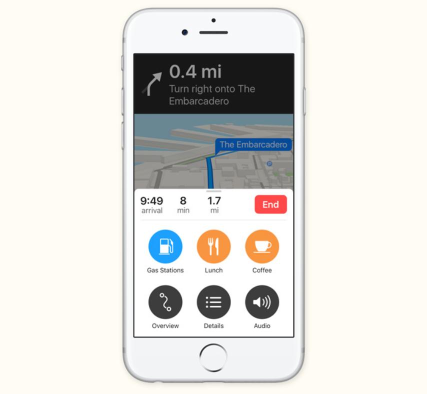 iOS 10 stare vremii Apple Maps