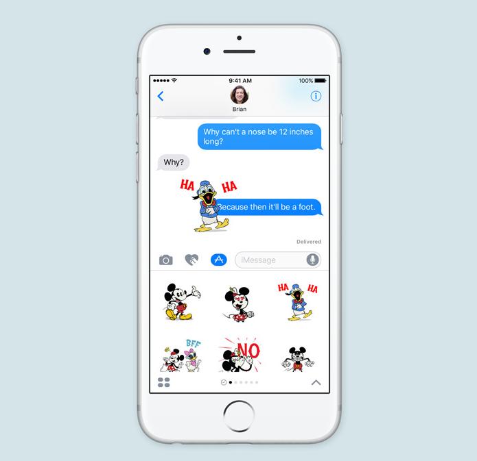 iOS 10 stickere iMessage