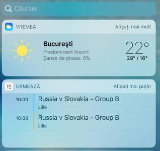 iOS 10 widgets
