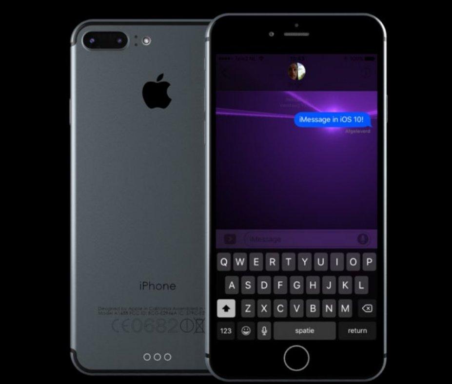 iPhone 7 Plus concept iOS 10