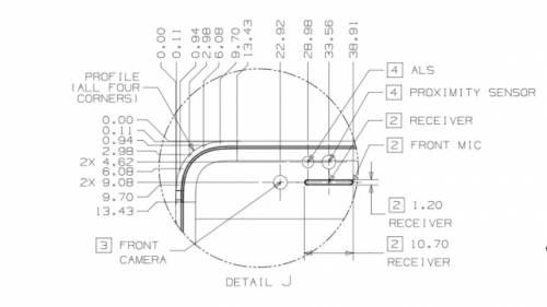 iPhone 7 difuzor senzor ambiental