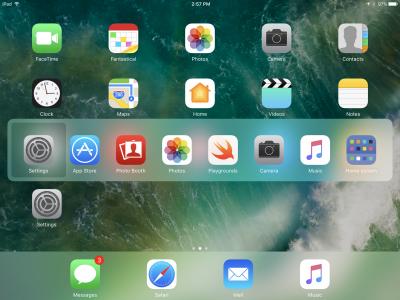 incercuire aplicatii iPad iOS 10