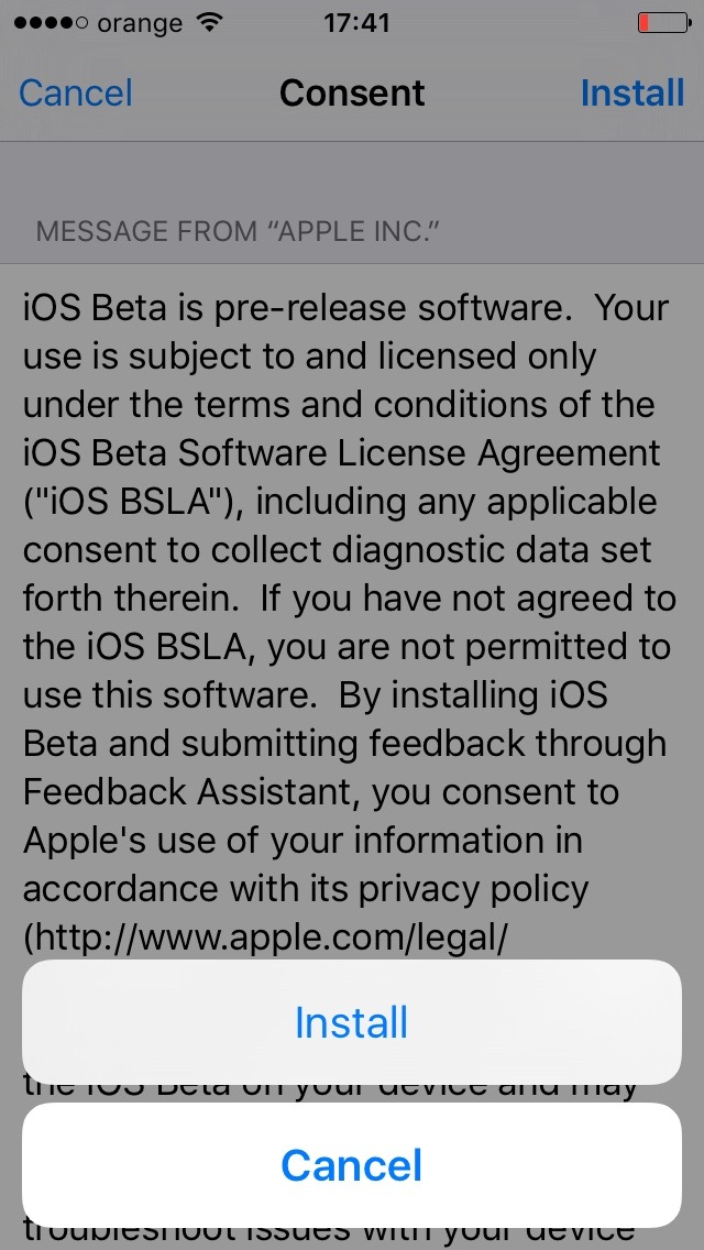 instalare iOS 10 beta 1 iPhone iPad