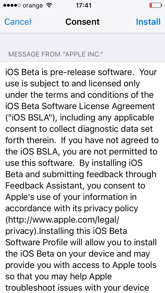 instalare iOS 10 beta 1 iPhone iPad