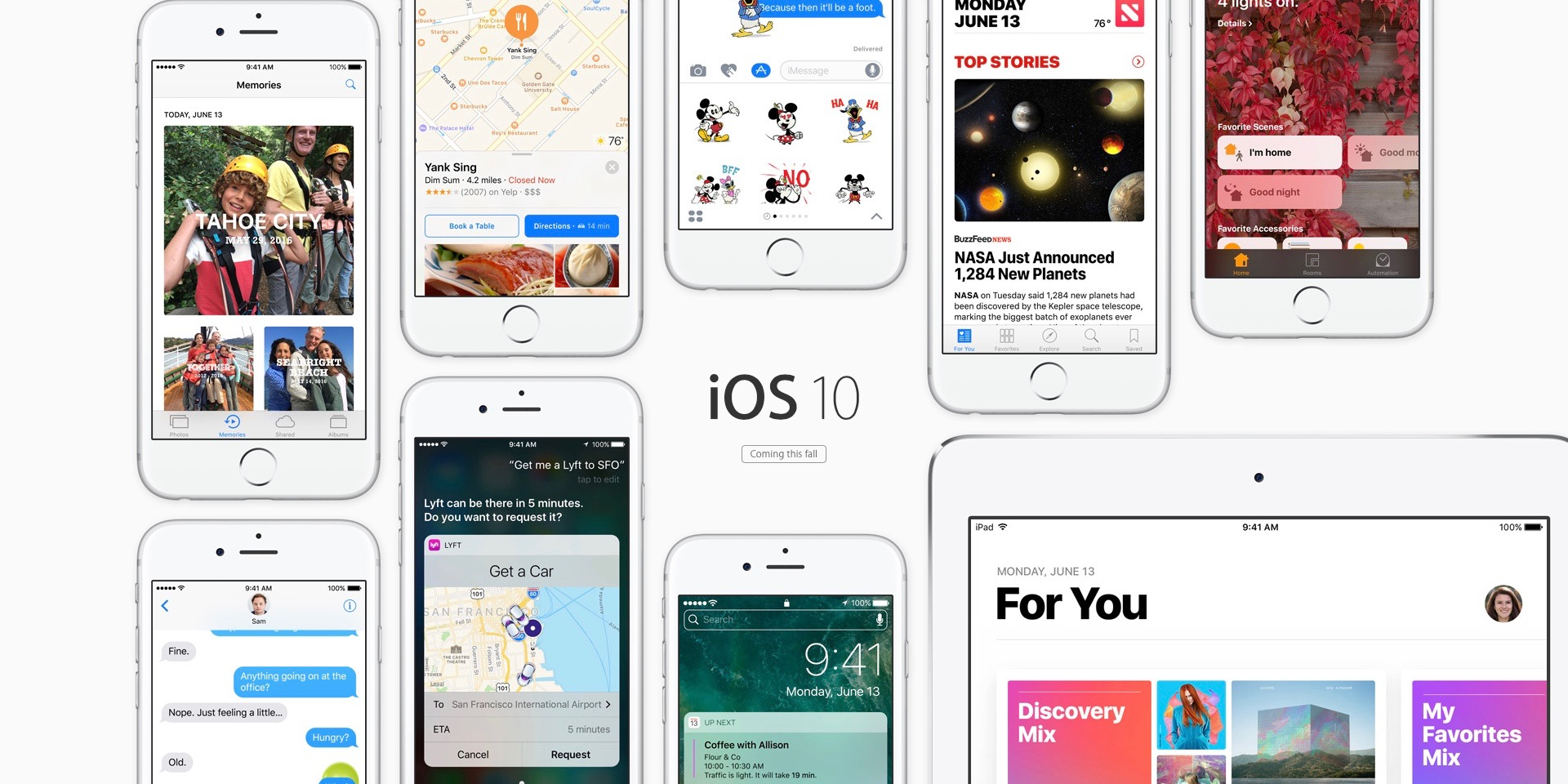 noutatile iOS 10 beta 1